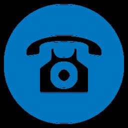 Telephone Blue Icon Name Card Design Icon Black And White