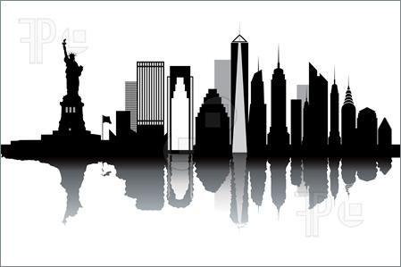 New York Skyline Illustration New York Illustration New York Skyline Silhouette City Skyline Silhouette