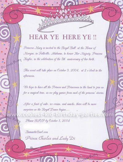 Princess Birthday Party Invitation Printable Girl Horse Drawn – Princess Party Invitation Ideas