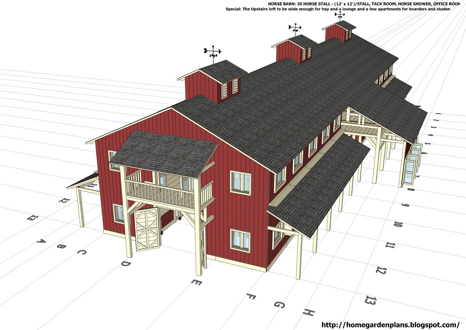 barn plans stable designs building plans for horse - HD1600×1134