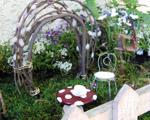 Miniature accessories arbor diy fairy garden accessories for Diy miniature garden accessories