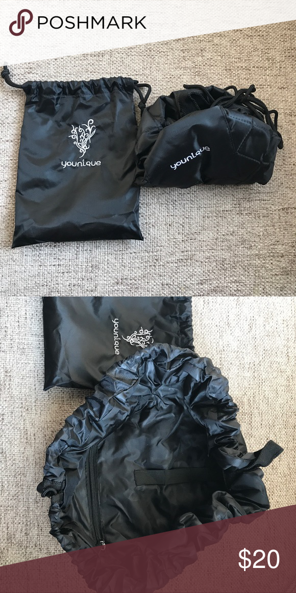 Younique Drawstring Lay Flat Makeup Bag with pouch Brand