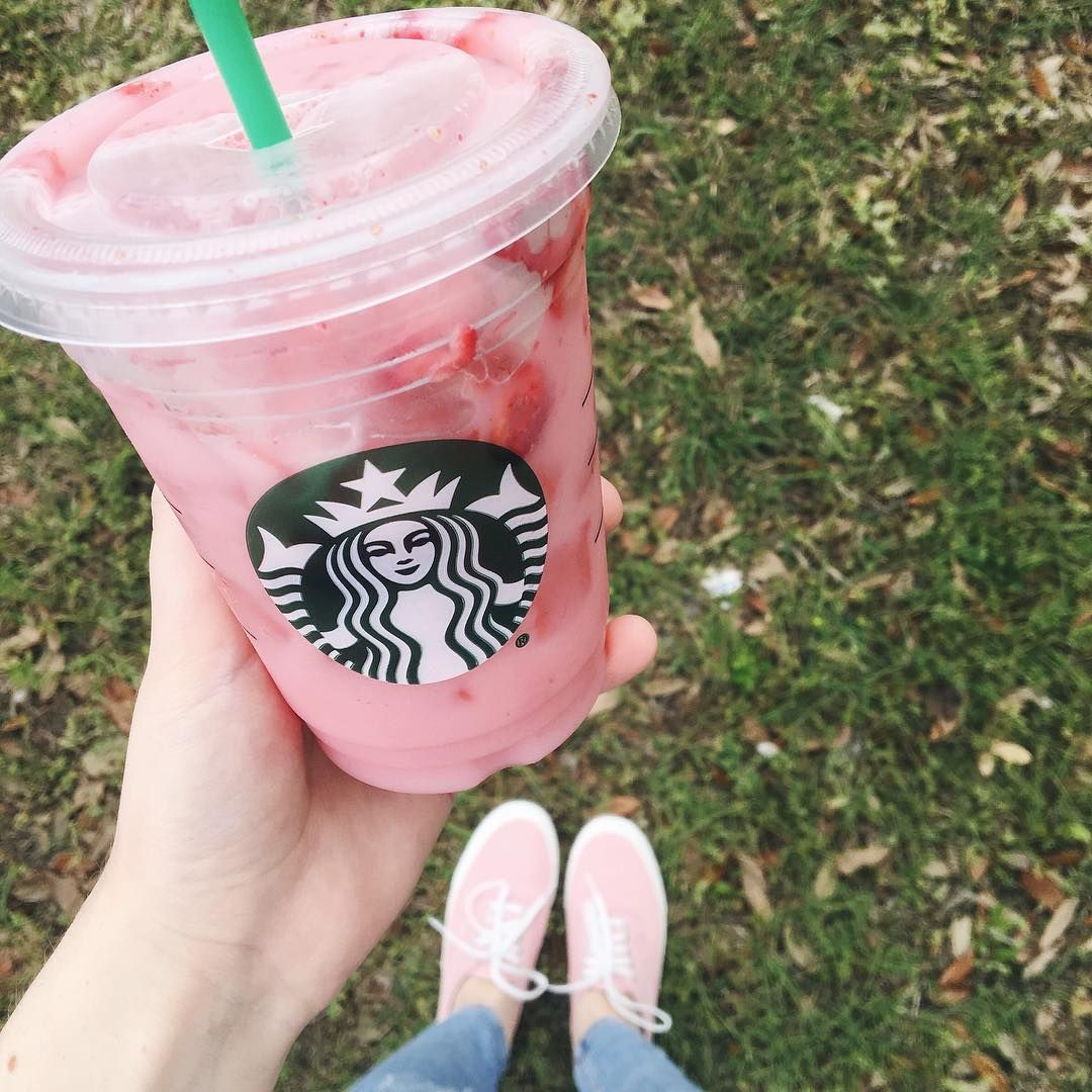 Me in a cup. Aka Strawberry Acai Refresher with coconut milk, thanks @nikkilipstick