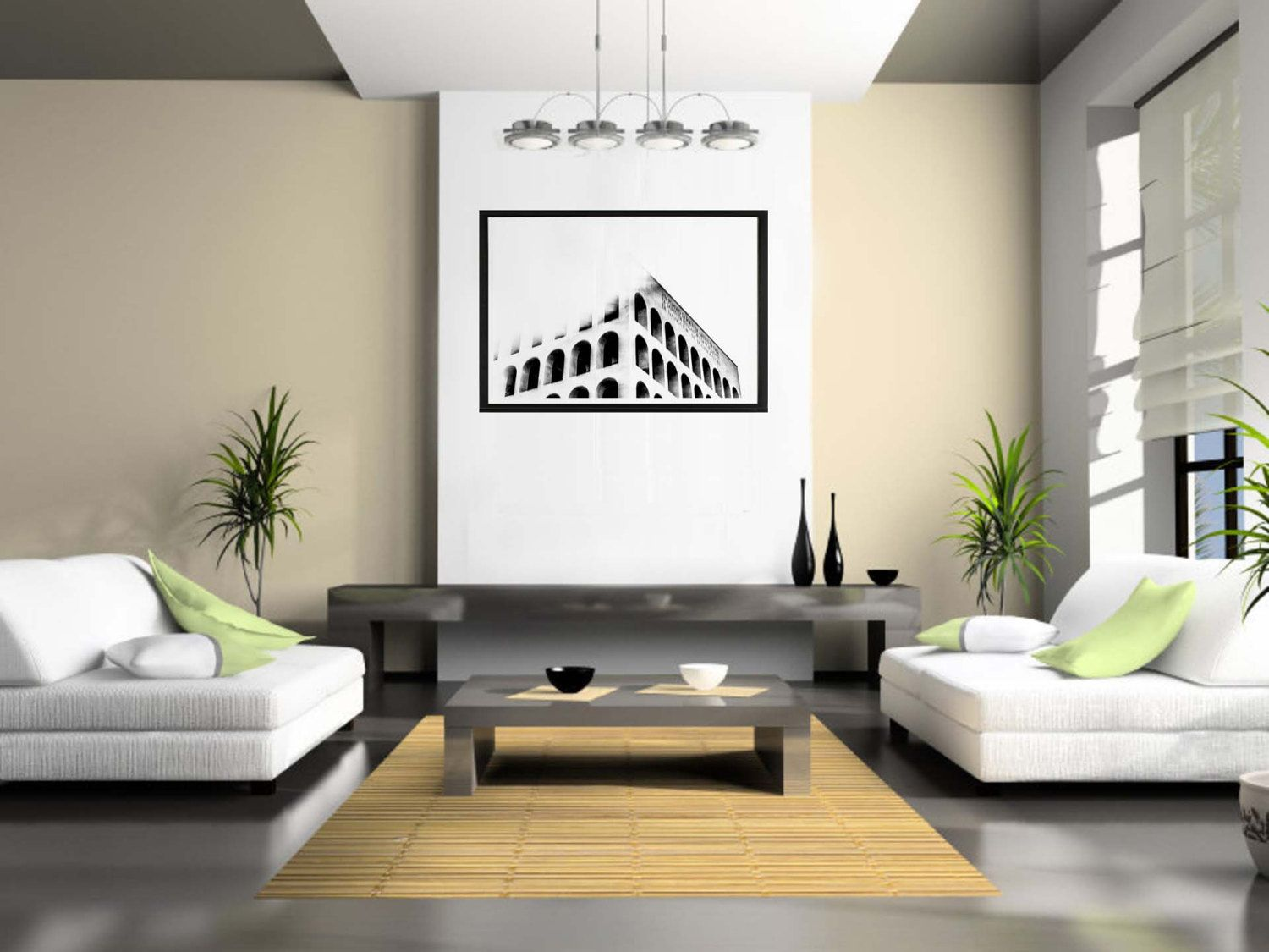 Urban Landscape Roma Fine Art Photography Black White Minimal Interior Design