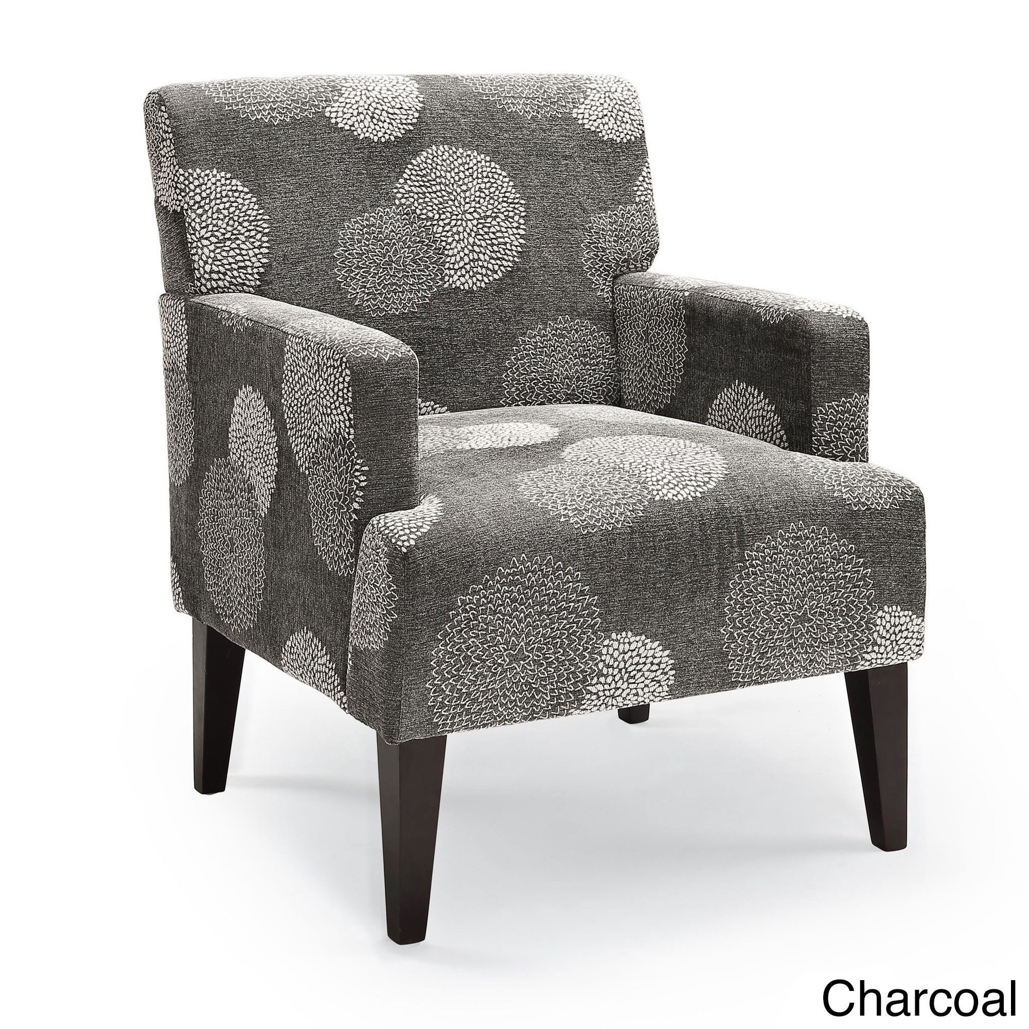Tux Sunflower Accent Chair Charcoal Grey Fabric