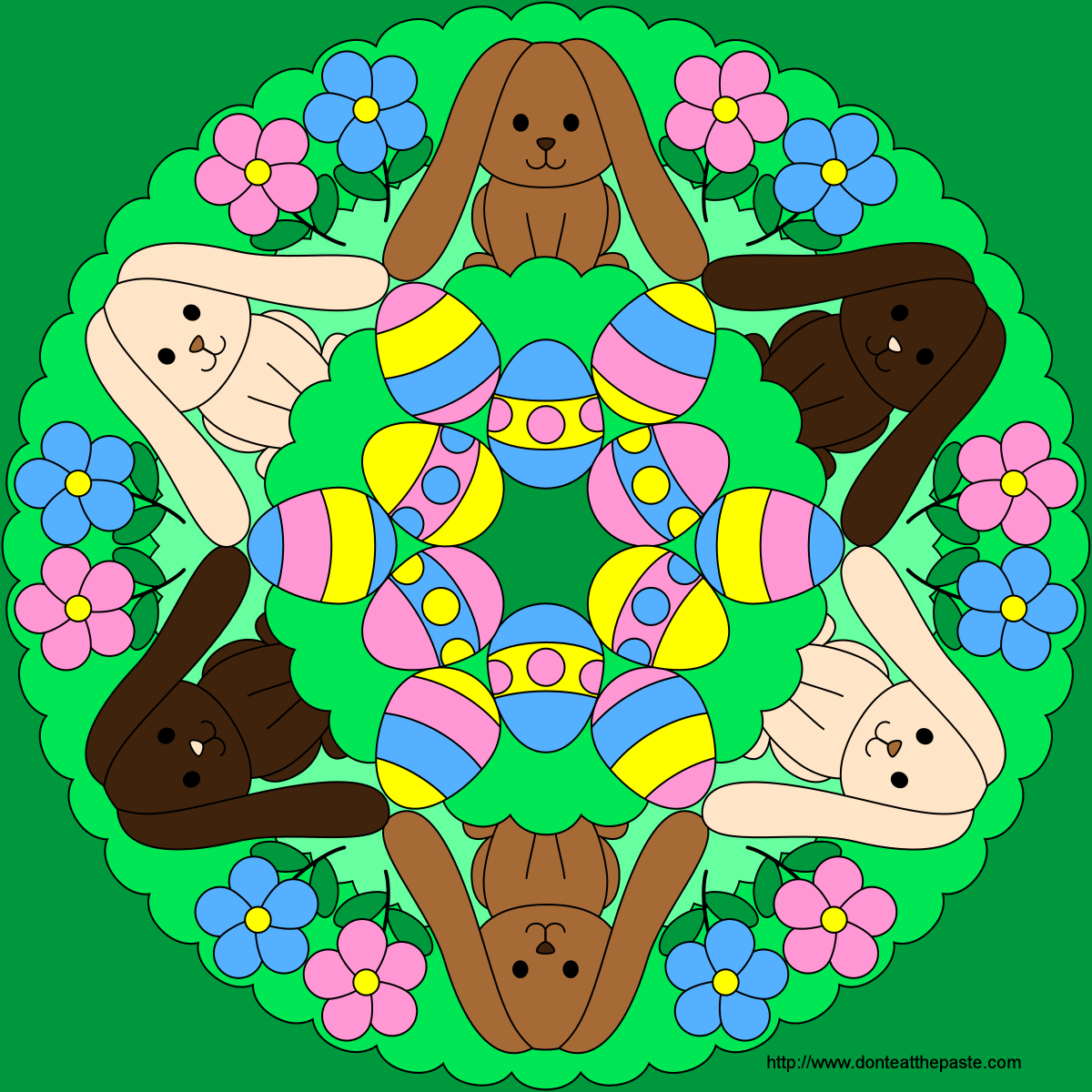 easter bunny mandala coloring pages easter coloring pages free