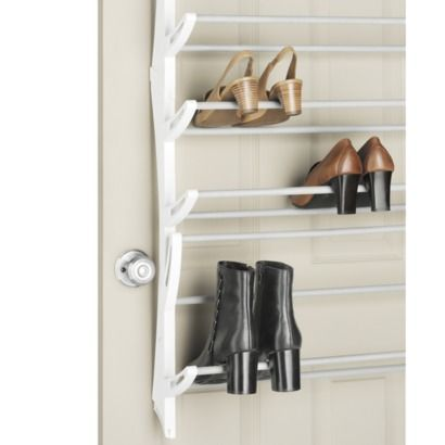 Whitmor 36 Pair Over-The-Door Shoe Rack White Shoe rack, Doors and