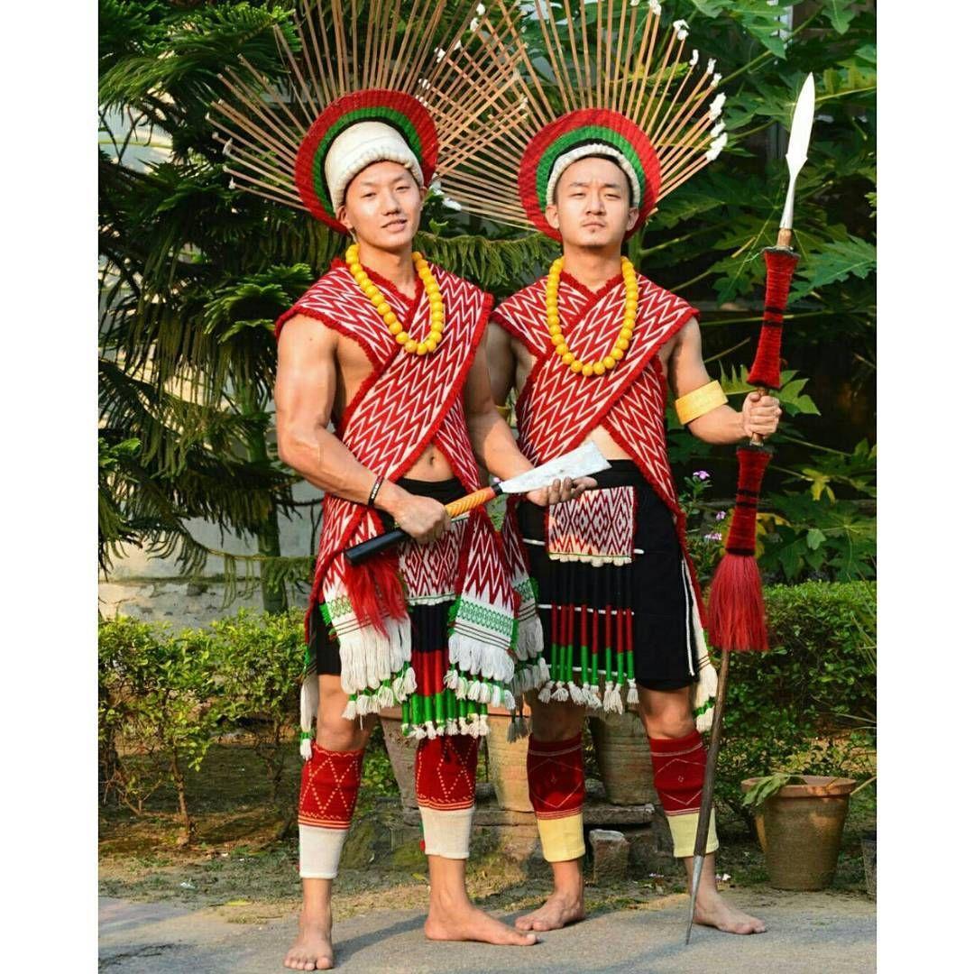 2a7051ad35 Angami Naga men in traditional attires. | Naga Tribes | North east ...