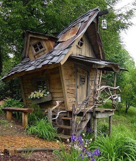 Fairy Tale House | Insolite | Cabane jardin, Jardins et Cabanon de ...