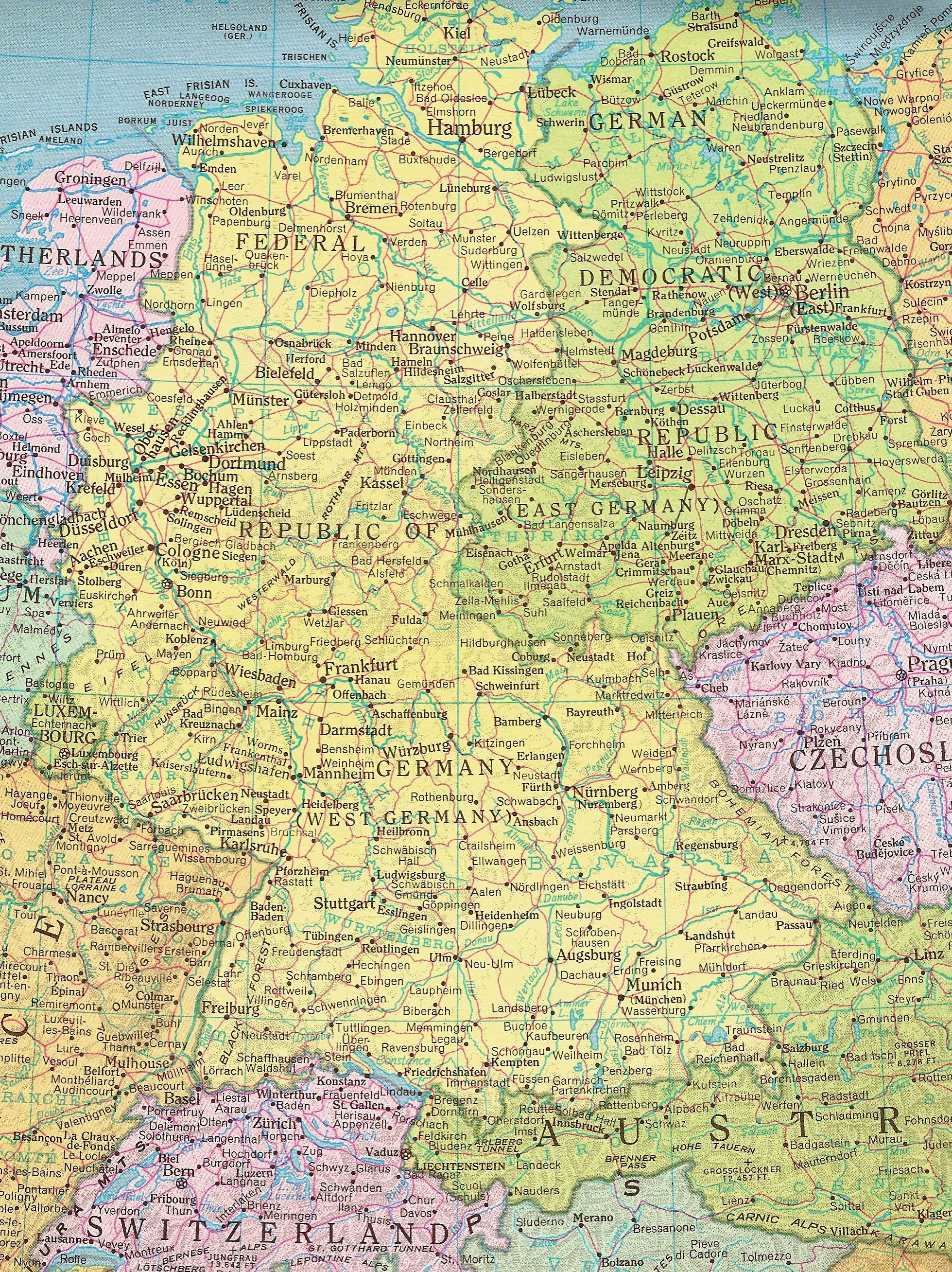 Map Of East Germany West Germany.Former East Germany And West Germany All Things German