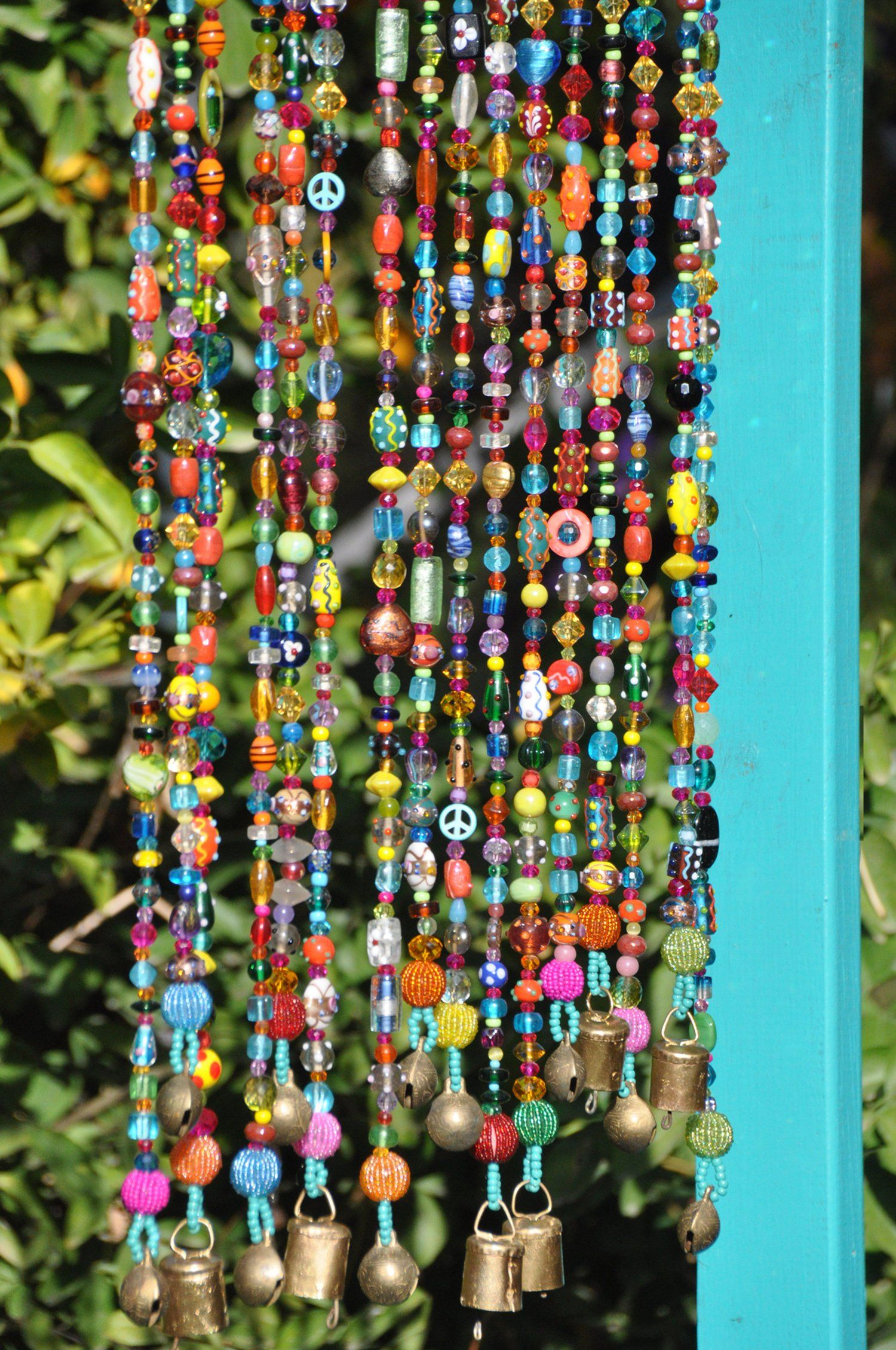 Bohemian Hippie Unique Beaded Curtain For The Window Door Or Wall