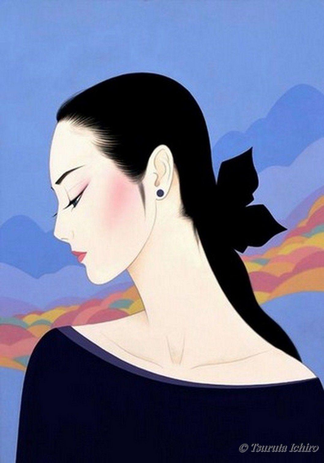 By ichiro tsuruta mujeres arte asi tico arte casa y for Sei bella e non per quel filo di trucco