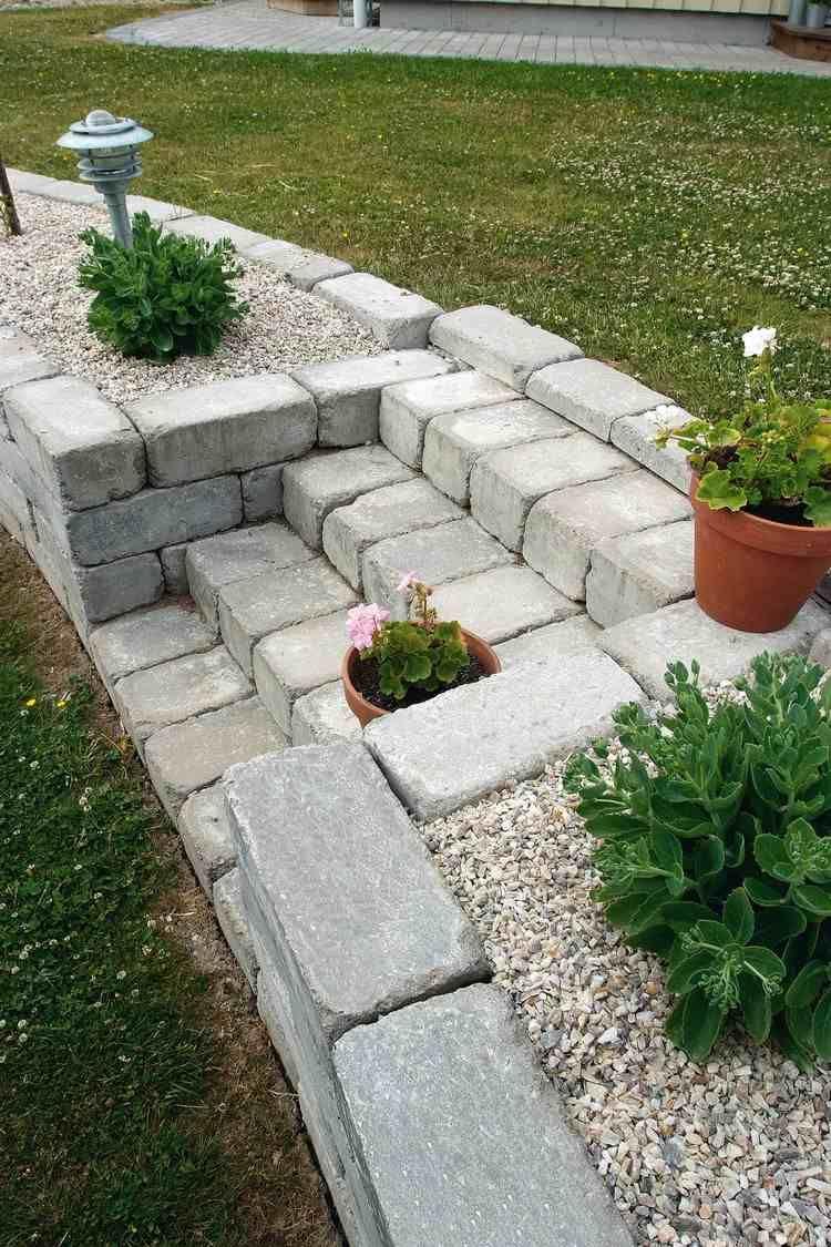 Amenagement Exterieur En Cailloux jardin de rocaille et déco en pierre naturelle en 40 idées d