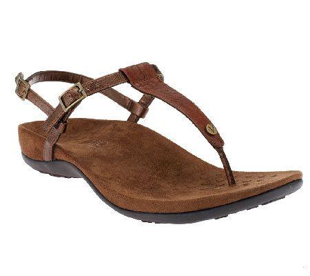 54f66b6ae Vionic w  Orthaheel Angela Orthotic Thong Sandals w  Backstrap Comfortable  Sandals