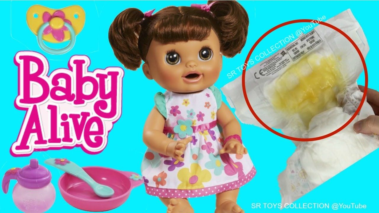 Baby Alive Doll Feeding Pooping Diaper Change Baby Doll