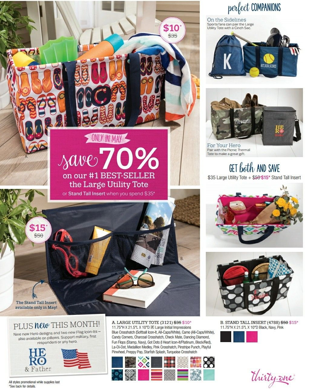 d9f181513af4 Thirty-One Customer Special for May 2017 Come shop the 31 May Sale and get  the Large Utility Tote at 70% off with a  35 dollar purchase! ...