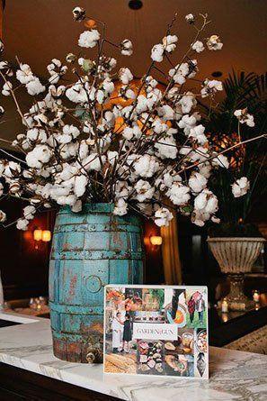 Cotton Wedding Bouquets Centerpieces Cotton Decor Cotton Wedding Cotton Wedding Bouquet