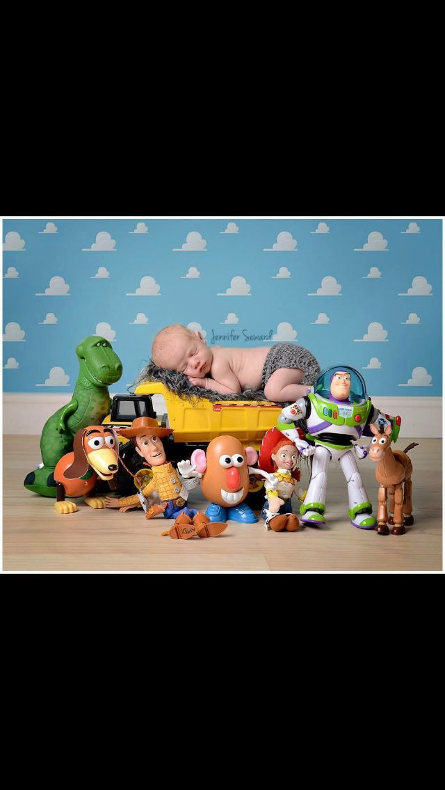 87f0eac08 Toy story themed baby shoot! | Baby props | Baby boy photos, Baby ...