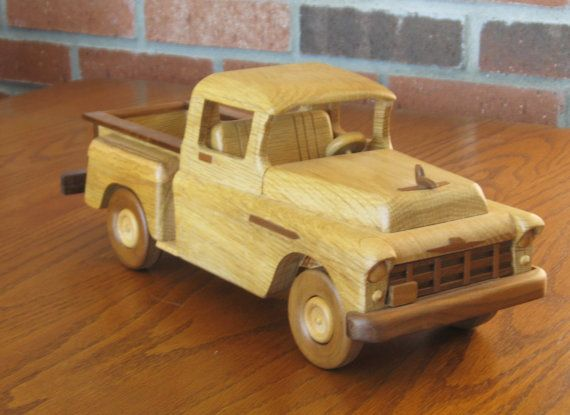 1956 Chevy Stepside Pickup Wooden Toy Trucks Wood Toys