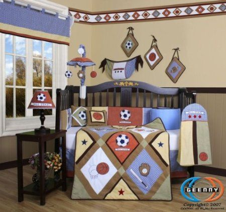 All Star 13 pcs Crib Bedding Set Baby Boutique