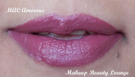 Amorous: MAC describes it as 'Lovestruck Cranberry'. It is the perfect deep pink/plum colour.