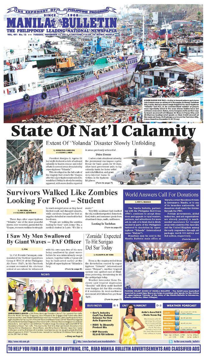 Manila Bulletin, published in Manila, Philippines | Extra