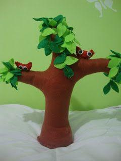 Eu quem fiz!!!: Árvore de Feltro