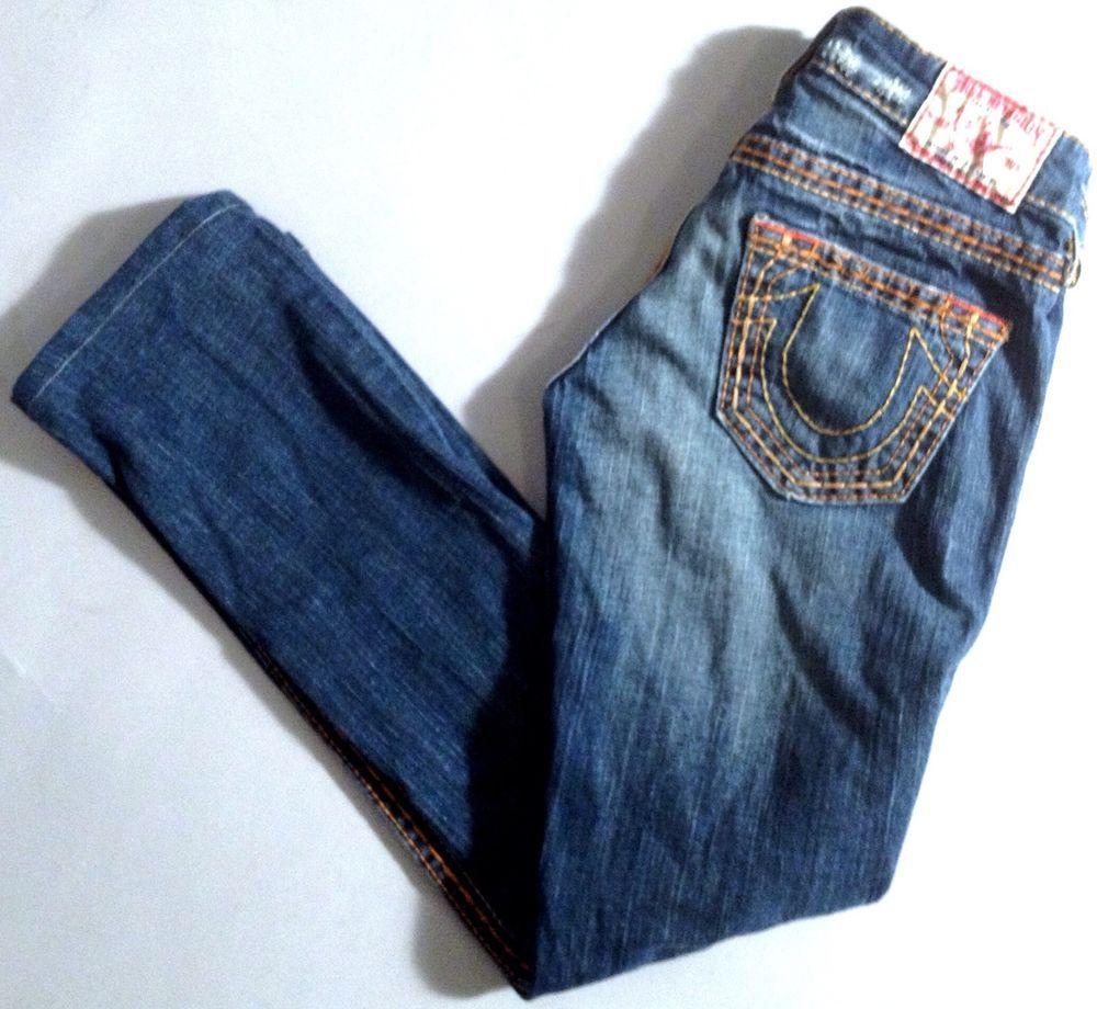 True Religion Johnny Big T Straight Leg Drifter Size 24 #TrueReligion #StraightLeg