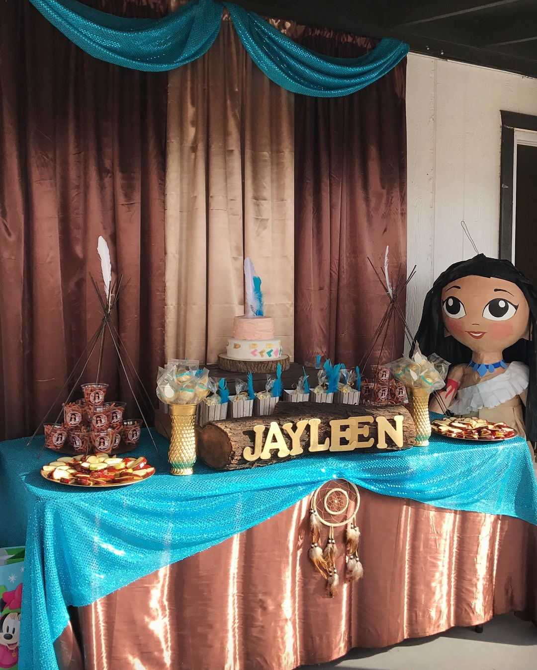 Birthday Party Decoration Pocahontas Cake Celebration