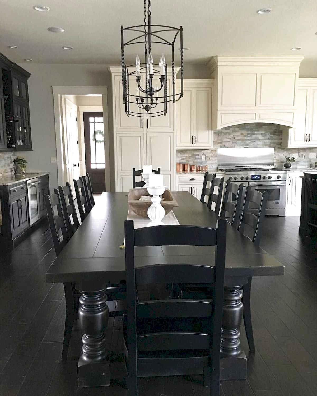 Modern Farmhouse Dining Room Table, Black Dining Room Table