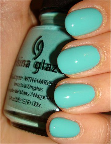 China Glaze For Audrey Seems That This Is A Great Tiffany Blue Even Better Than Essie S Turquoise And Caicos Will Try Soon
