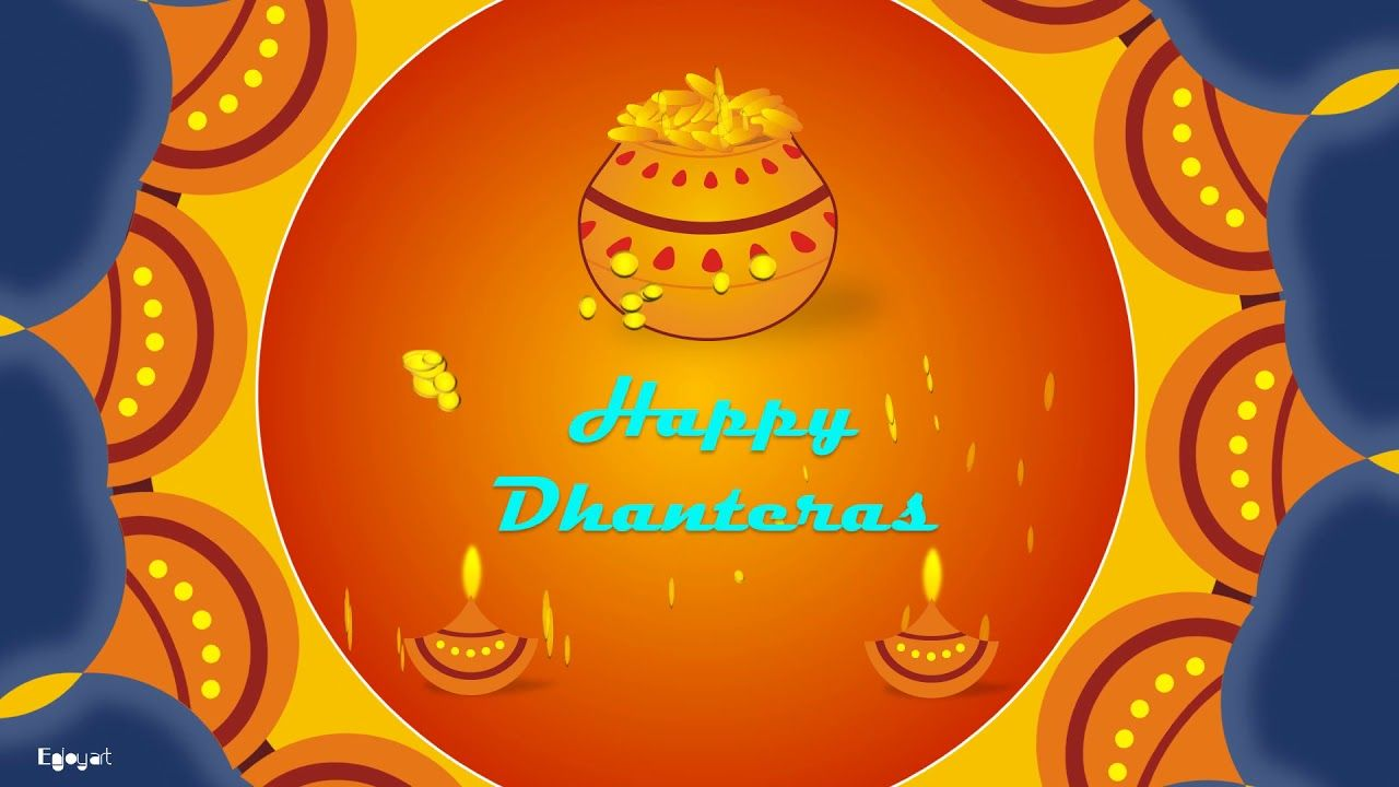 Happy Dhanteras Wishes Greetings Animated Video | Whatsapp Status Video | by Enjoy Art