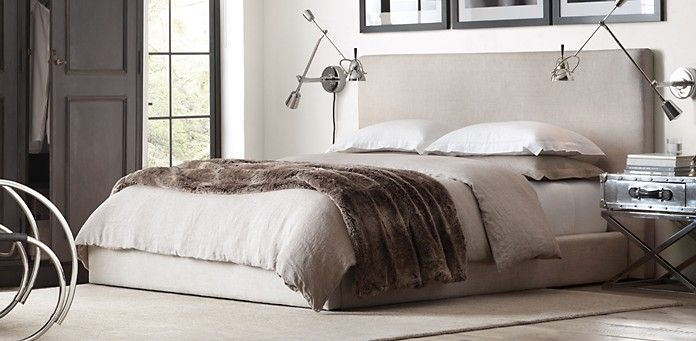 Sullivan Upholstered Platform Bed Restoration Hardware Home Goods Pinterest Upholstered
