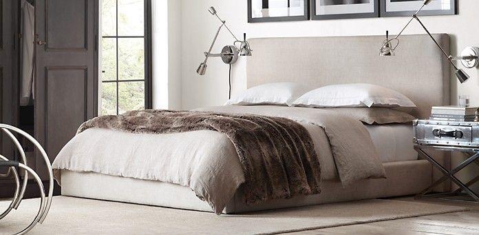 restoration hardware bedroom. Sullivan Platform Fabric Bed Collection Upholstered  Restoration Hardware Home