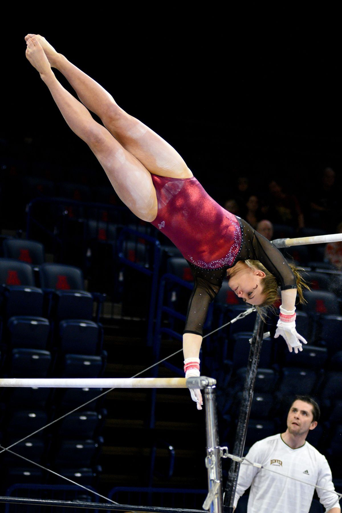 #louisiana LSU defeats #1 Oklahoma in womens gymnastics
