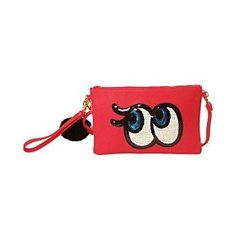 Imoshion Sequin Eyes Wristlet with Pom Pom