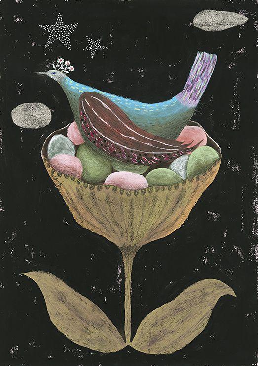 tetsuhirowakabayashi: Flower bird