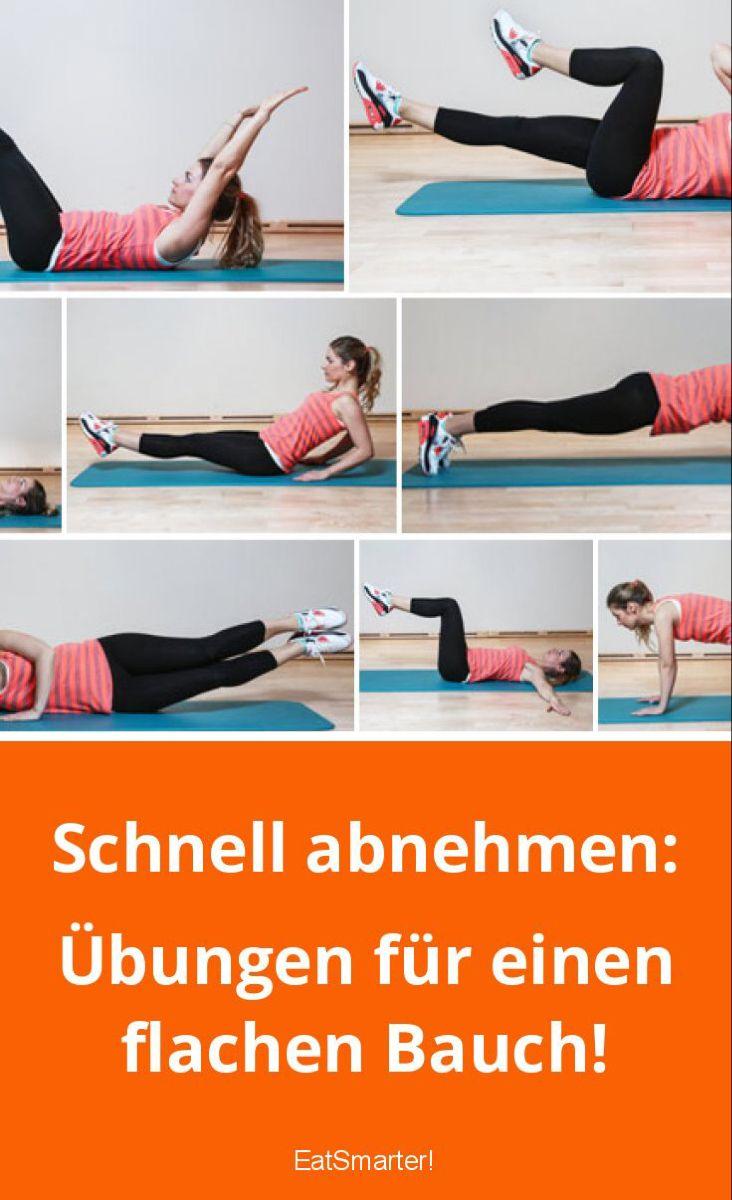 Schnell abnehmen: Übungen für einen flachen Bauch!
