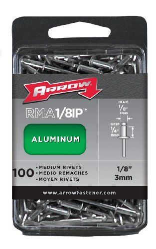 Arrow Fastener Rma1 8ip Medium Aluminum 1 8 Inch Rivets 100 Pack By Arrow 6 70 From The Manufacturer The Rivets Fasteners Rivets Industrial
