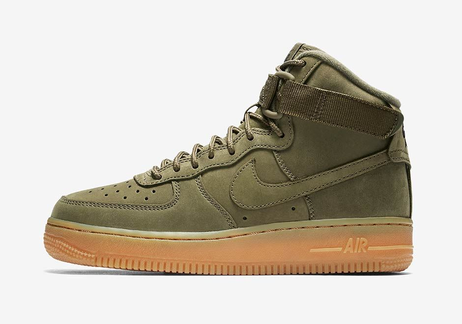 Nike Air Force 1 High Kids Olive Gum 922066-202 | SneakerNews.com