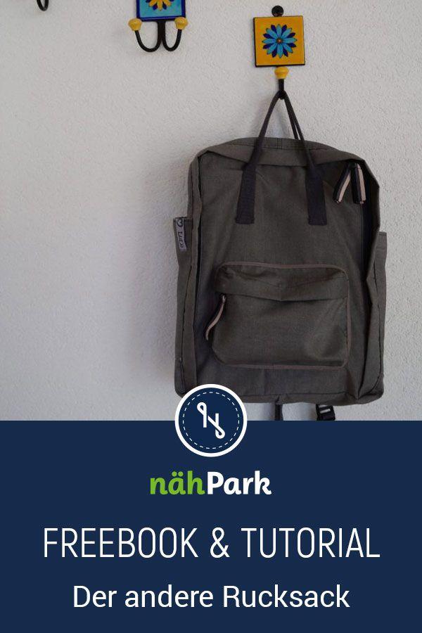 Instructions de couture gratuites pour un sac à dos, y compris un livre gratuit et un tutoriel.   – Nähen