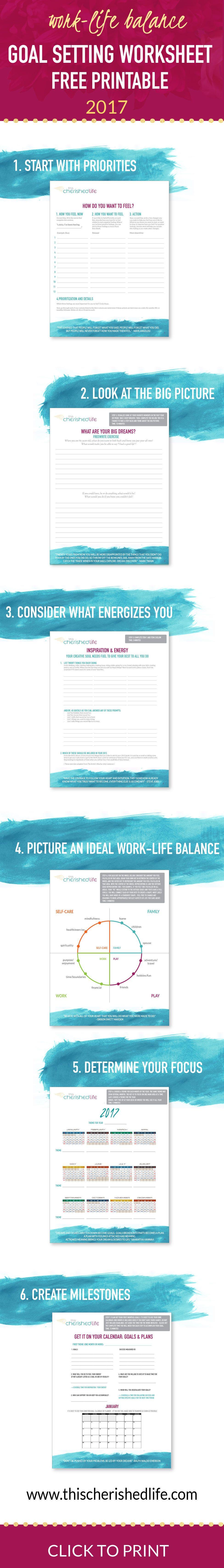 goal setting printable worksheet set goals that matter 2017 goal setting printable worksheet set goals that matter for work life balance especially