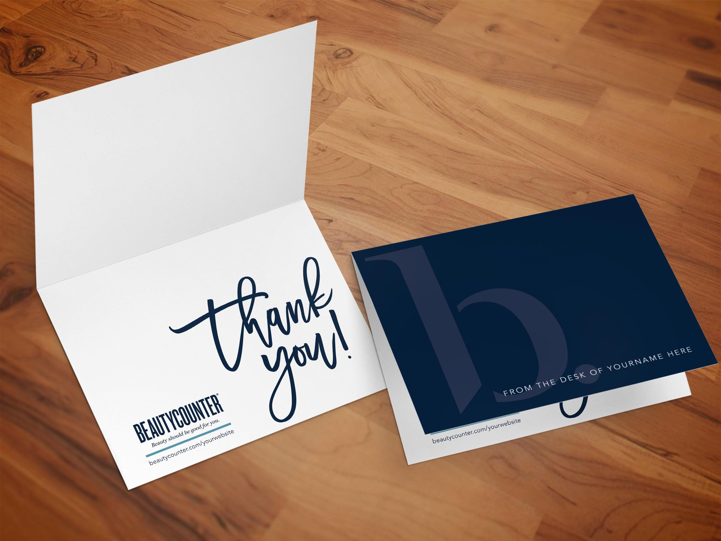 Personalized Thank You Card Printable Beautycounter Etsy Business Thank You Cards Personalized Thank You Cards Thank You Cards