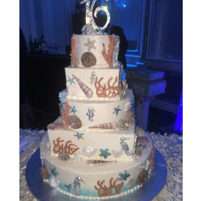 Under the sea sweet 16 cake Cakes Pinterest Sweet 16 cakes 16