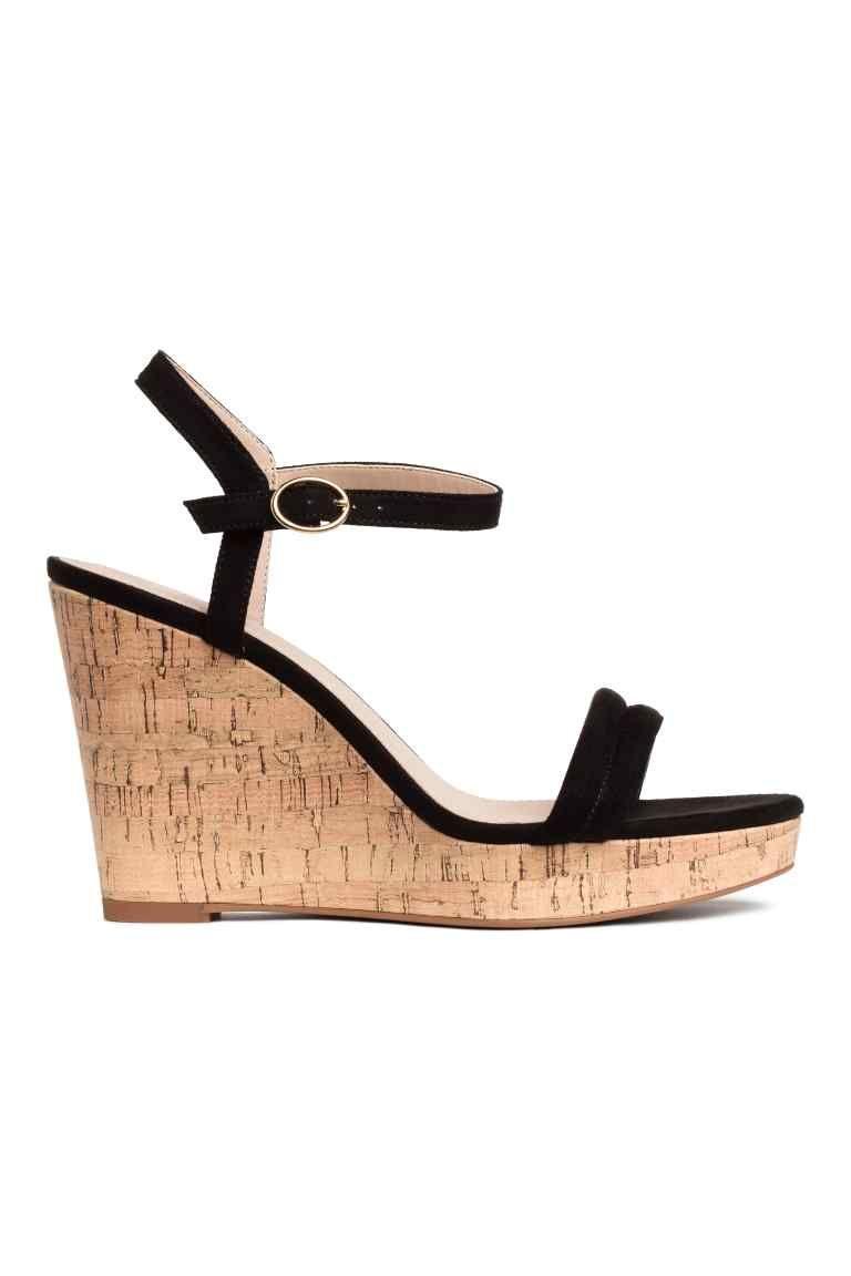 Sandales à talon compensé (avec images) | Sandale talon