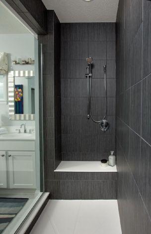 Master Shower Compass Homes Parade Home Http Www Compasshomes Com Bathroom Shower Tile Black Tile Bathrooms Large Shower Tile