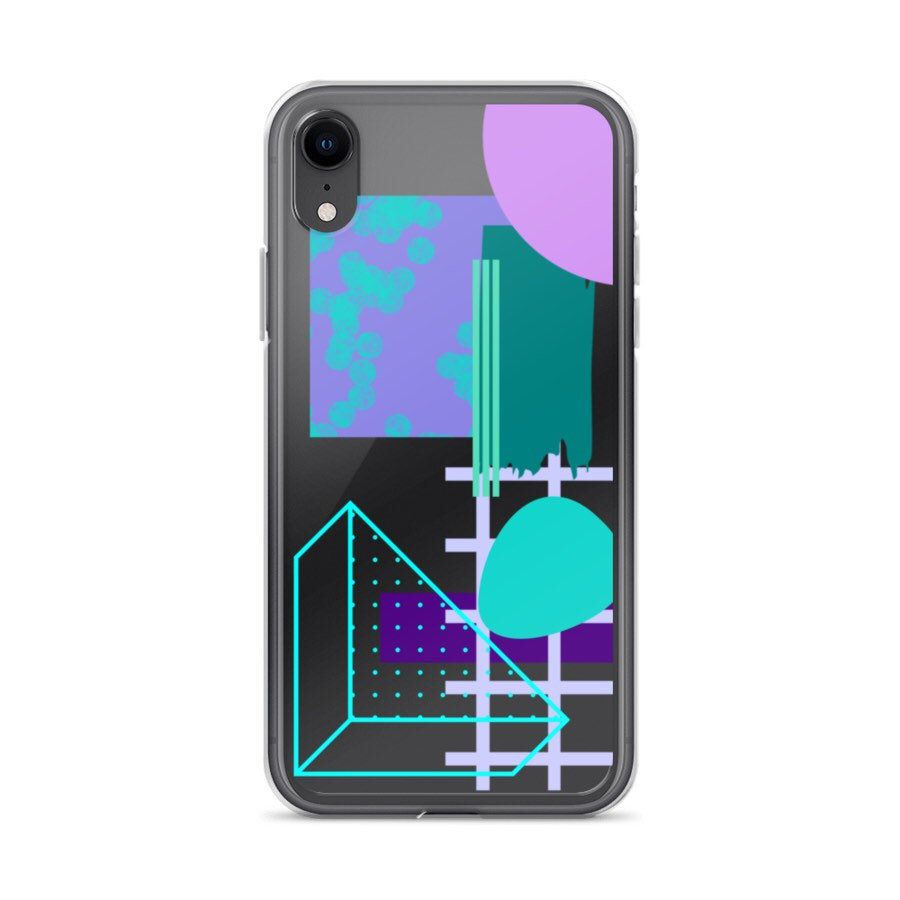 90s abstract shapes case for iphone 12 mini 11 pro x xs