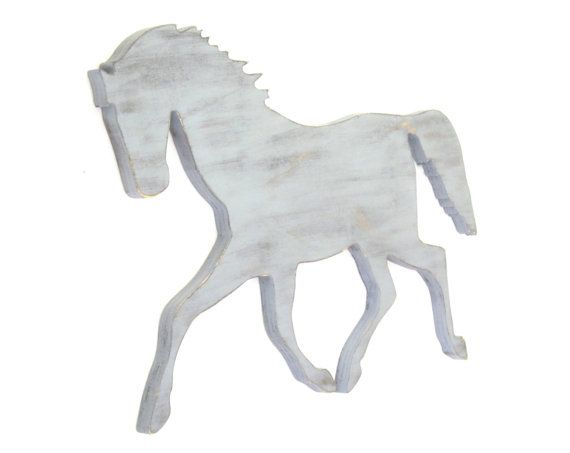 Gray Horse Wooden Sign Distressed Sign for a Yellow by PoppyHillCo, $47.00