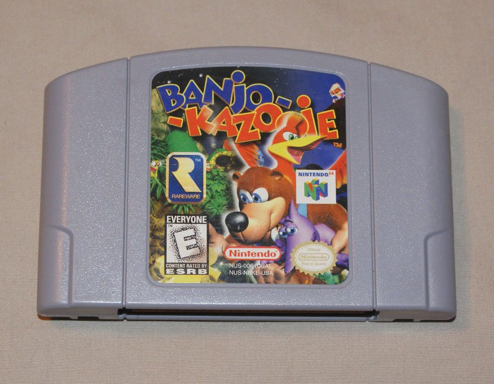 Banjo-Kazooie Nintendo 64 N64 Cleaned Tested Works Polished Pins