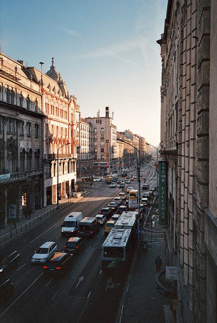 Analog Photography ~ Budapest || I believe our hostel was on this street, or very close to it.